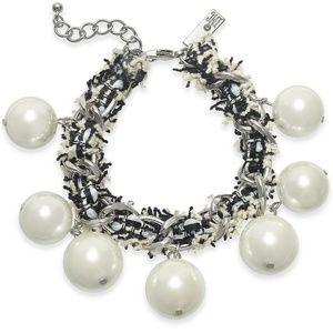 Imitation Pearl Fabric-Weaved Flex Bracelet 57